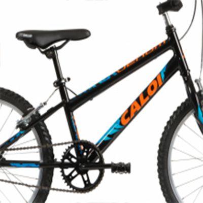"""Bicicleta Caloi - Venom Aro 20"""" - Preta / Azul e Laranja"""