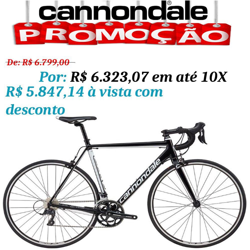 Bicicleta Cannondale - CAAD OPTIMO - Sora 9 v - Preta / Branco