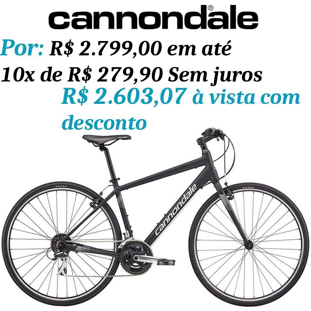 Bicicleta Cannondale - Quick 7 - 2018 + Brinde