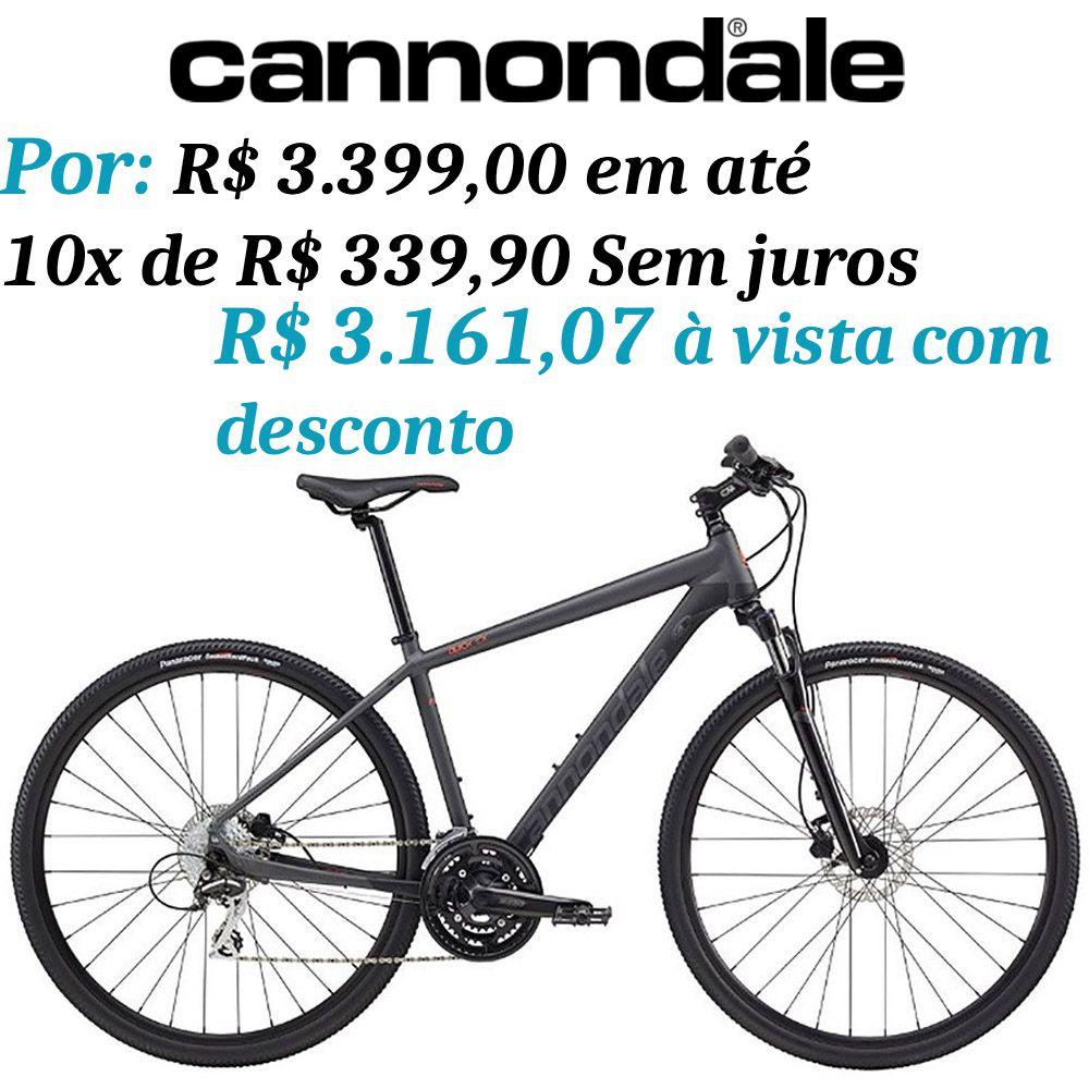 Bicicleta Cannondale - Quick CX4 - 2018 - Cinza + Brinde