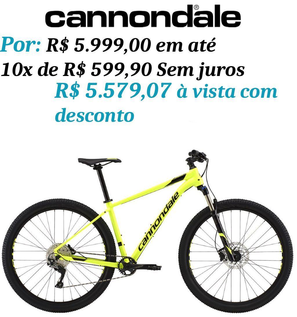 Bicicleta Cannondale - Trail 4 - Amarela + Brinde