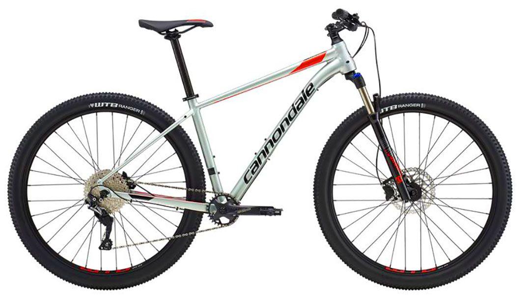 Bicicleta Cannondale - Trail 4 - Cinza Esverdeado / Vermelha + Brinde
