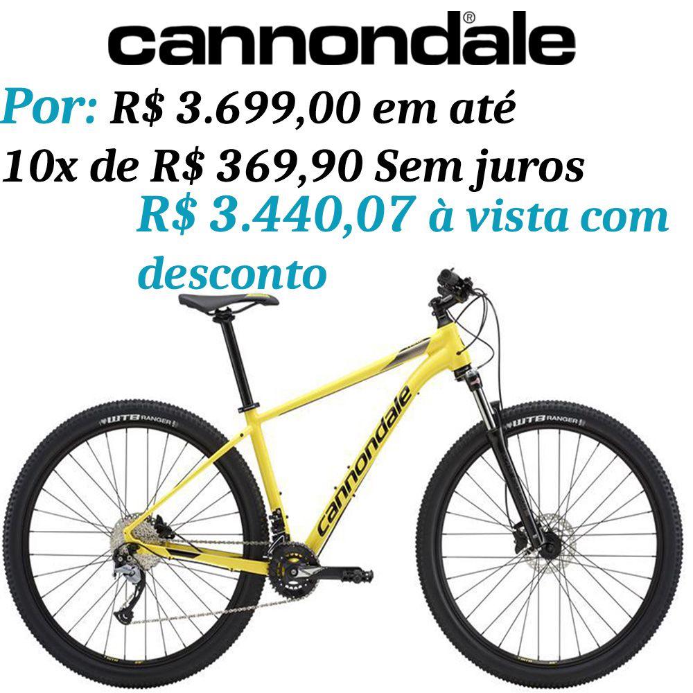 Bicicleta Cannondale - Trail 6 - 2019 - Amarela + Brinde
