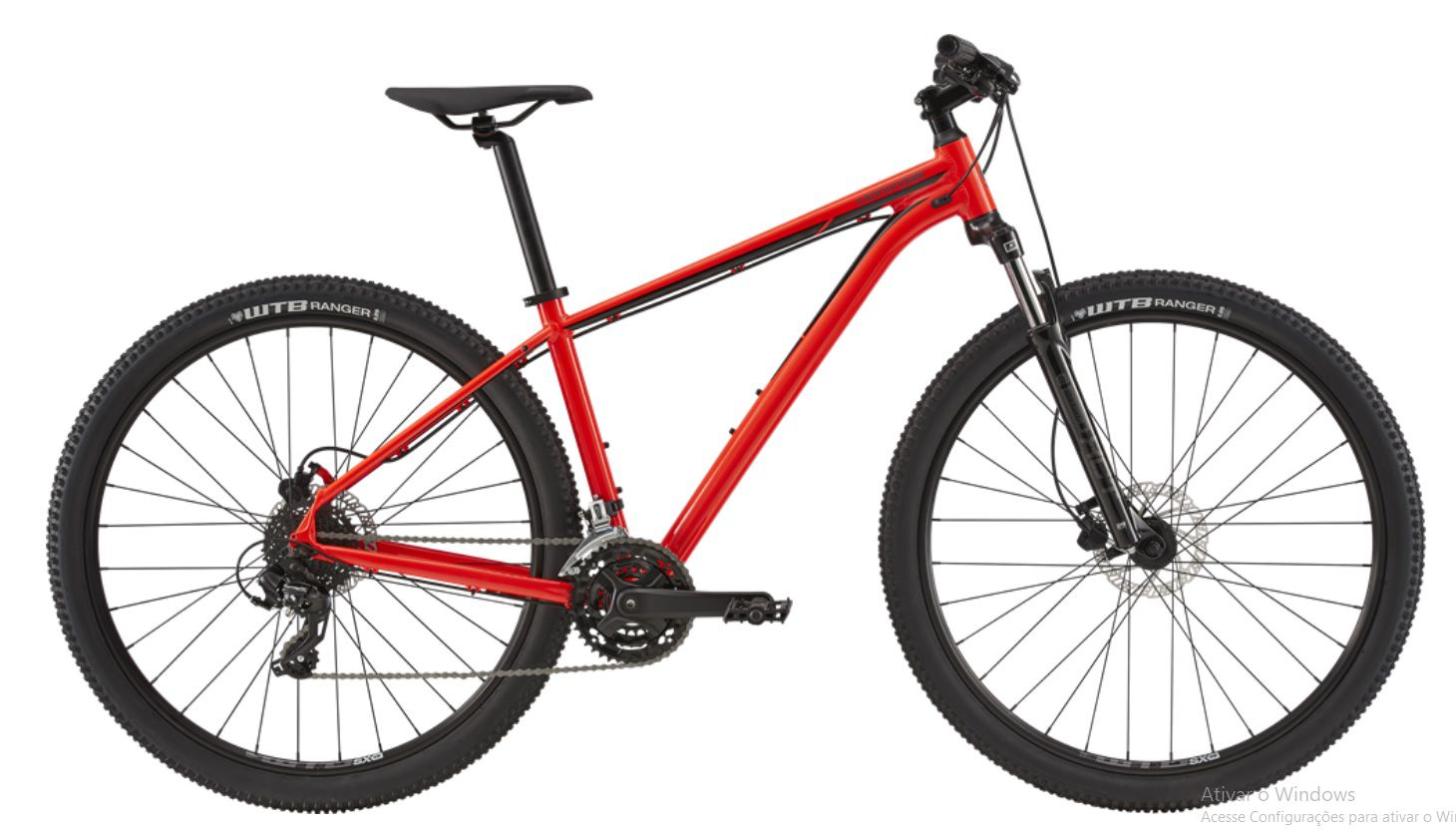 Bicicleta Cannondale - Trail 7 - 2020 - Vermelha + Brinde