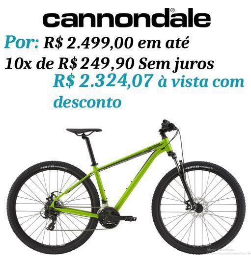 Bicicleta Cannondale - Trail 8 - 2020 - Verde + Brinde
