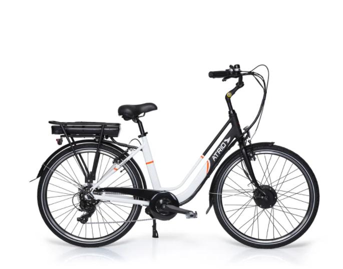 Bicicleta Elétrica Atrio Barcelona - Aro 26'' 250W Preto / Branco