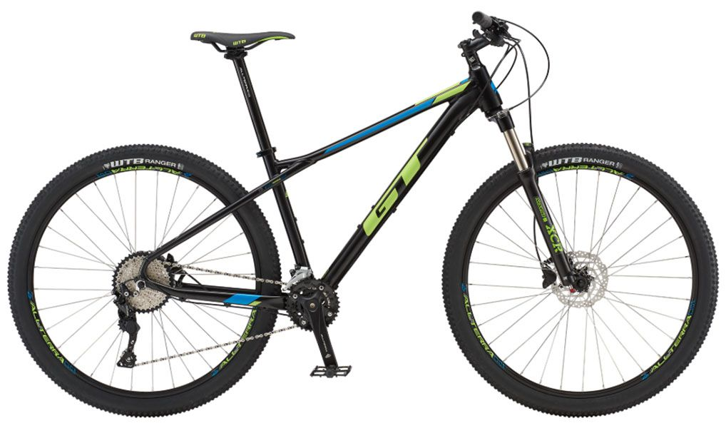 Bicicleta GT - Avalanche Elite 2019 - Preta / Amarela / Azul + Brinde