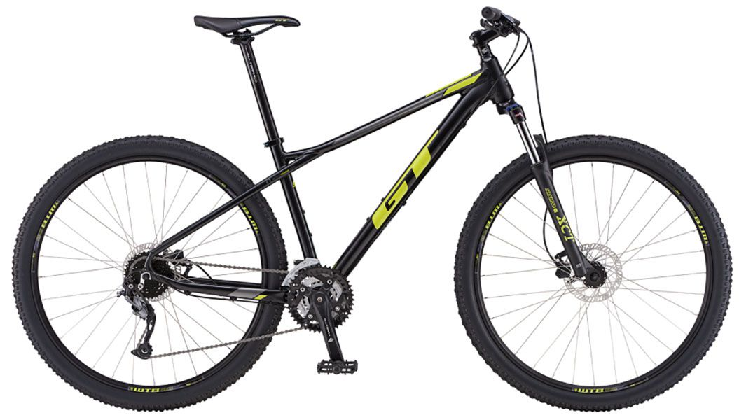Bicicleta GT - Avalanche Sport 2019 - Preta / Amarela + Brinde