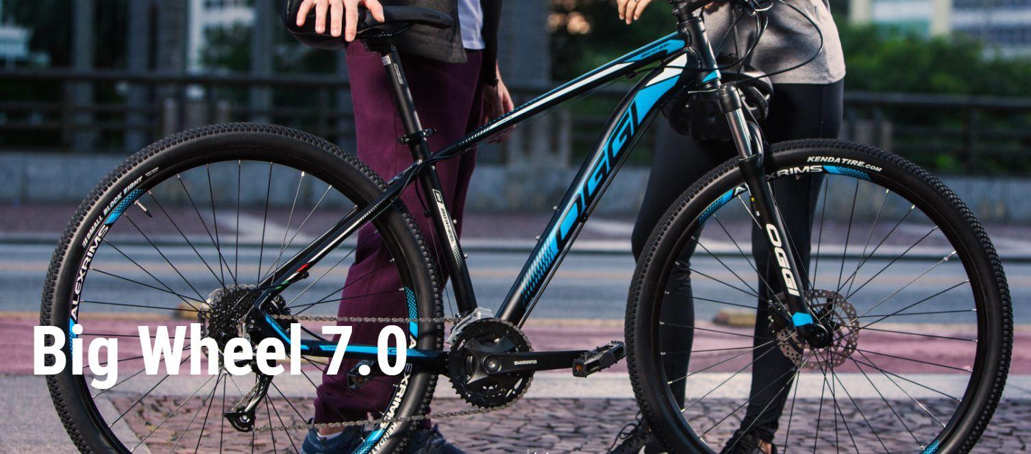Bicicleta Oggi - Big Wheel 7.0 - 2019 -  Preta / Azul + Brinde