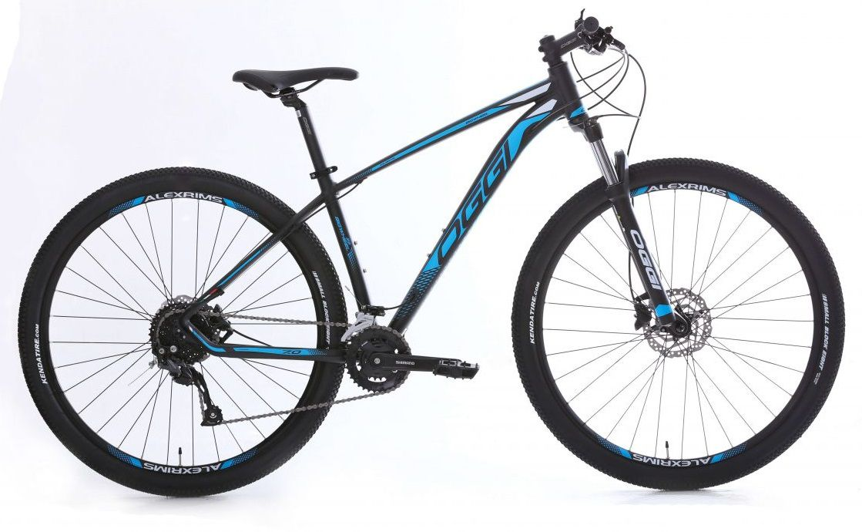 Bicicleta Oggi - Big Wheel 7.0 - 2020 - Preto / Azul / Branco + Brinde