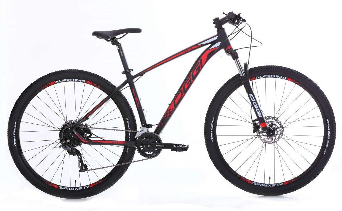 Bicicleta Oggi - Big Wheel 7.0 - 2020 - Preto / Vermelho / Branco + Brinde