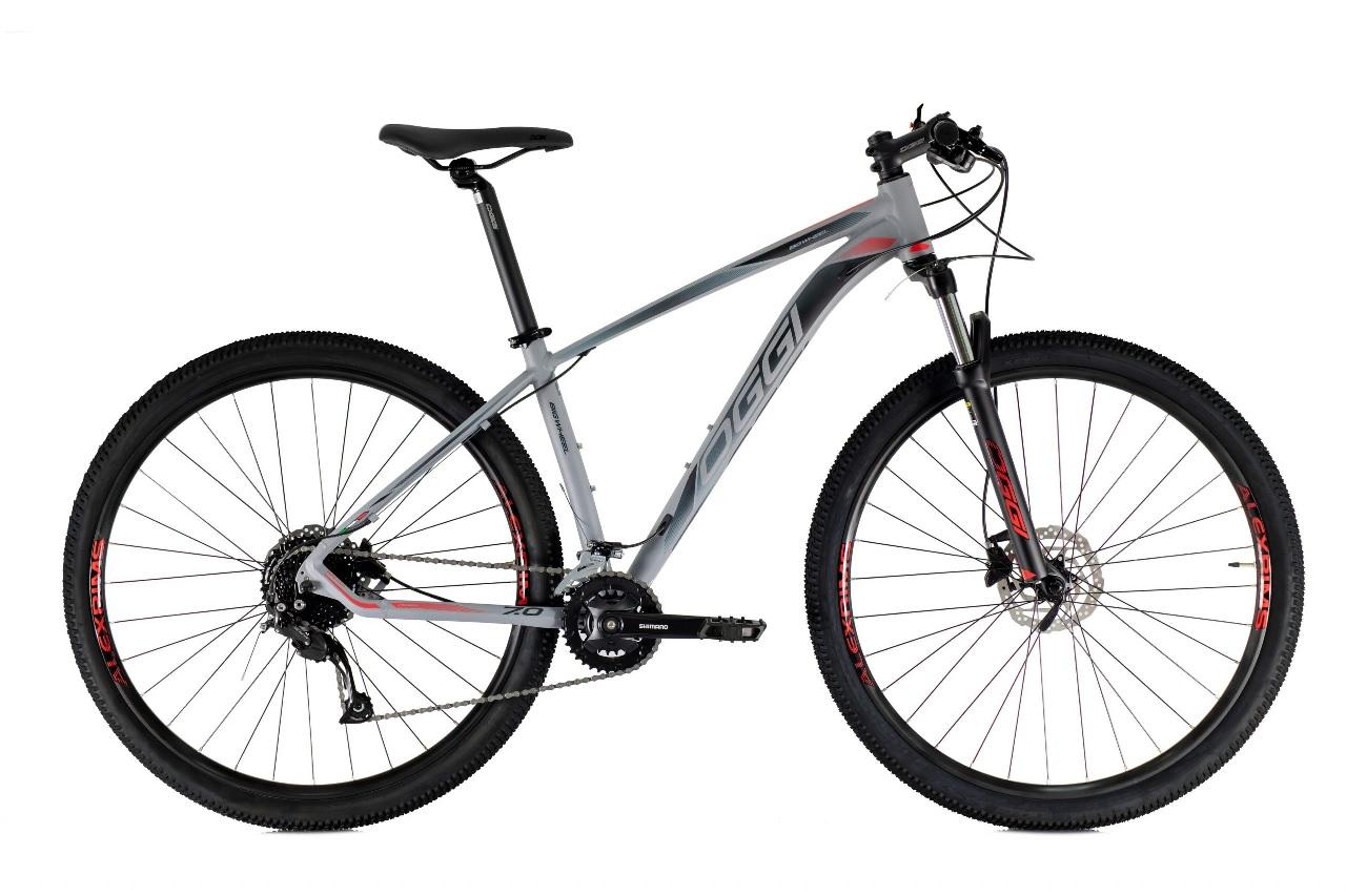Bicicleta Oggi - Big Wheel 7.0 - 2021 - Grafite / Preta / Vermelho