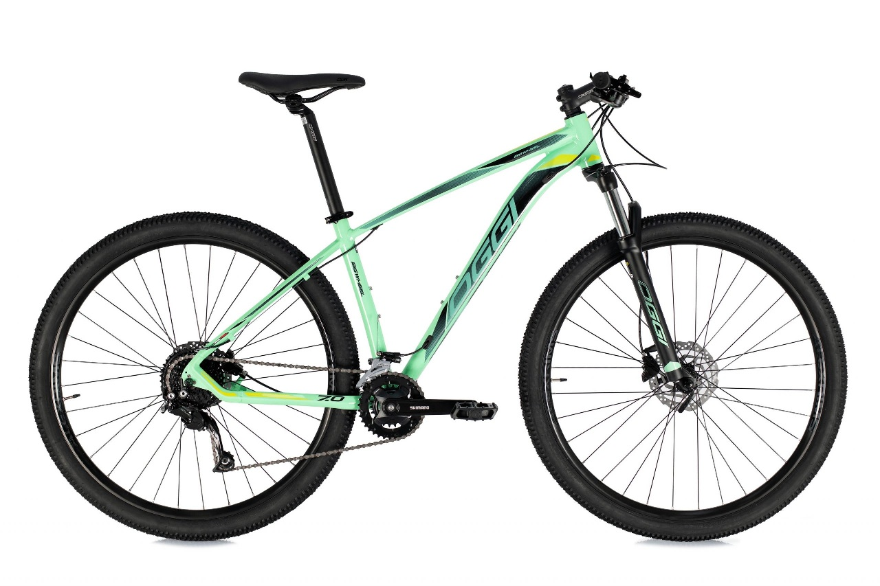 Bicicleta Oggi - Big Wheel 7.0 - 2021 - Verde Blue / Preto / S-Lime