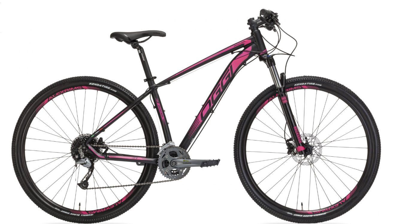 Bicicleta Oggi - Big Wheel 7.1 - 2019 - Preta / Rosa + Brinde