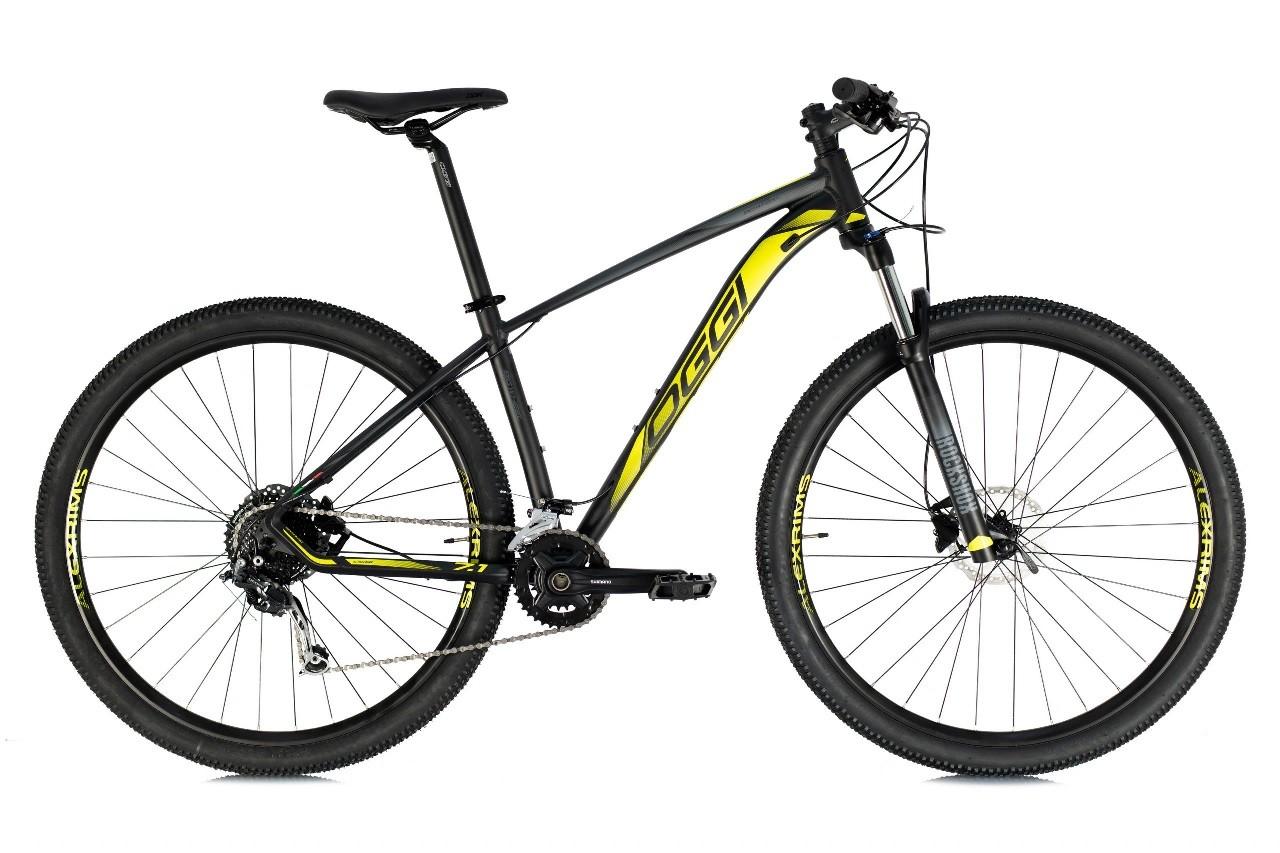 Bicicleta Oggi - Big Wheel 7.1 - 2021 - 18v - Preto / Amarelo / Grafite