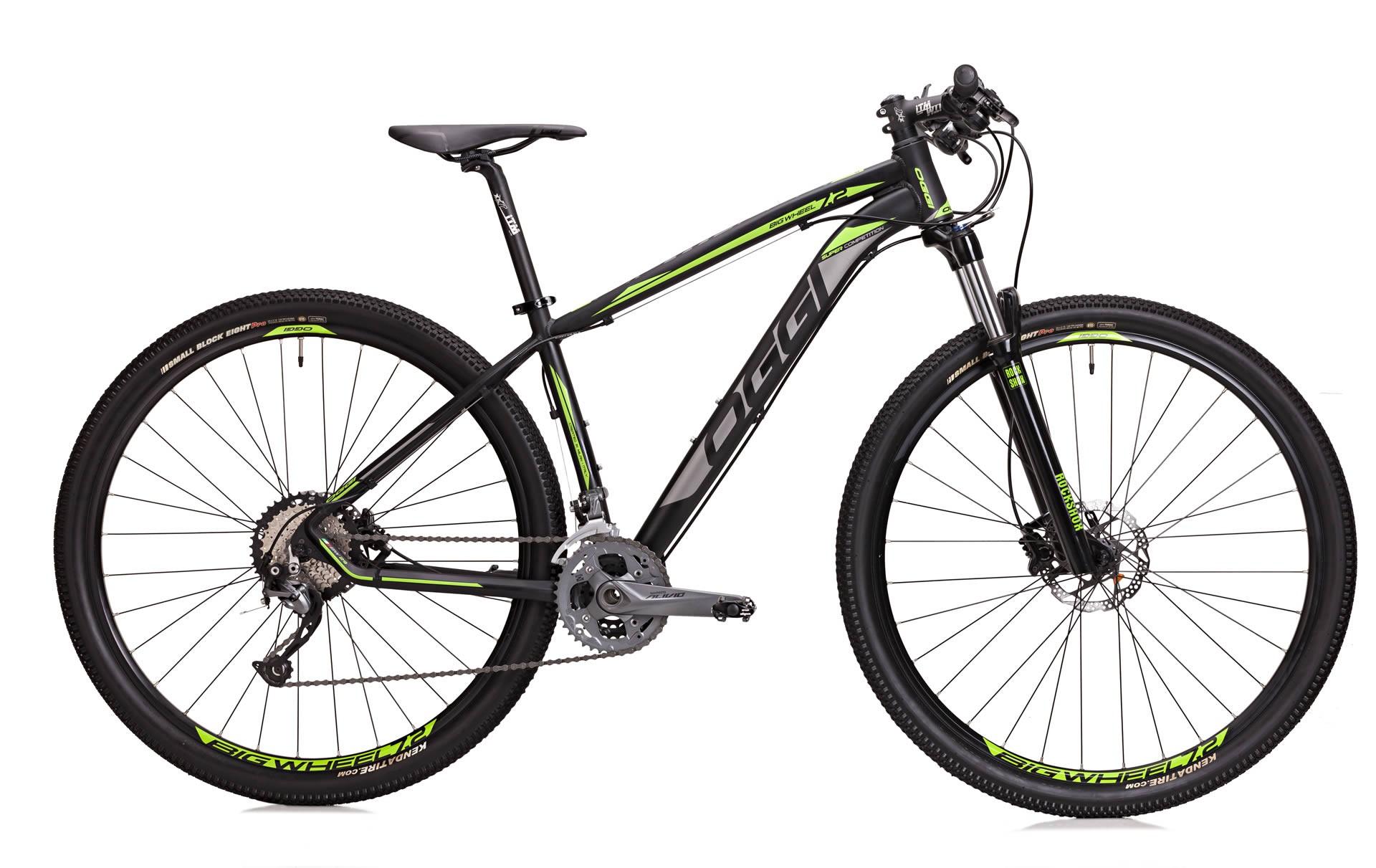 Bicicleta Oggi - Big Wheel 7.2 - 2018 - Preta / Verde / Cinza + Brinde