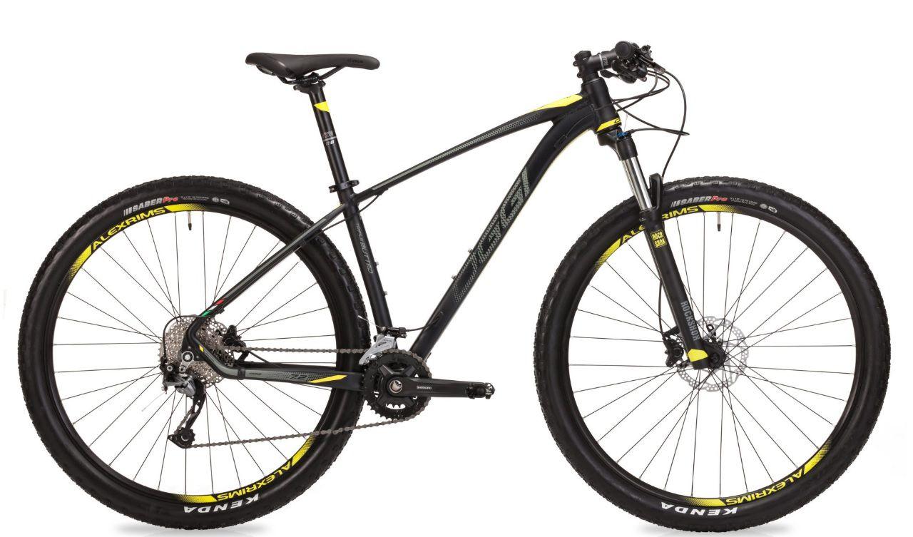 Bicicleta Oggi - Big Wheel 7.2 - 2019 - Preta / Grafite / Amarela + Brinde