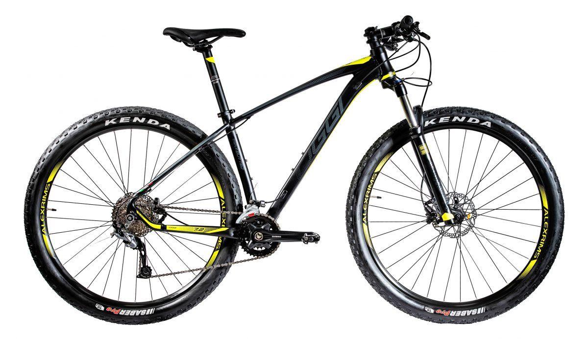 Bicicleta Oggi - Big Wheel 7.2 - 2020 - 18v - Preto / Amarelo / Grafite