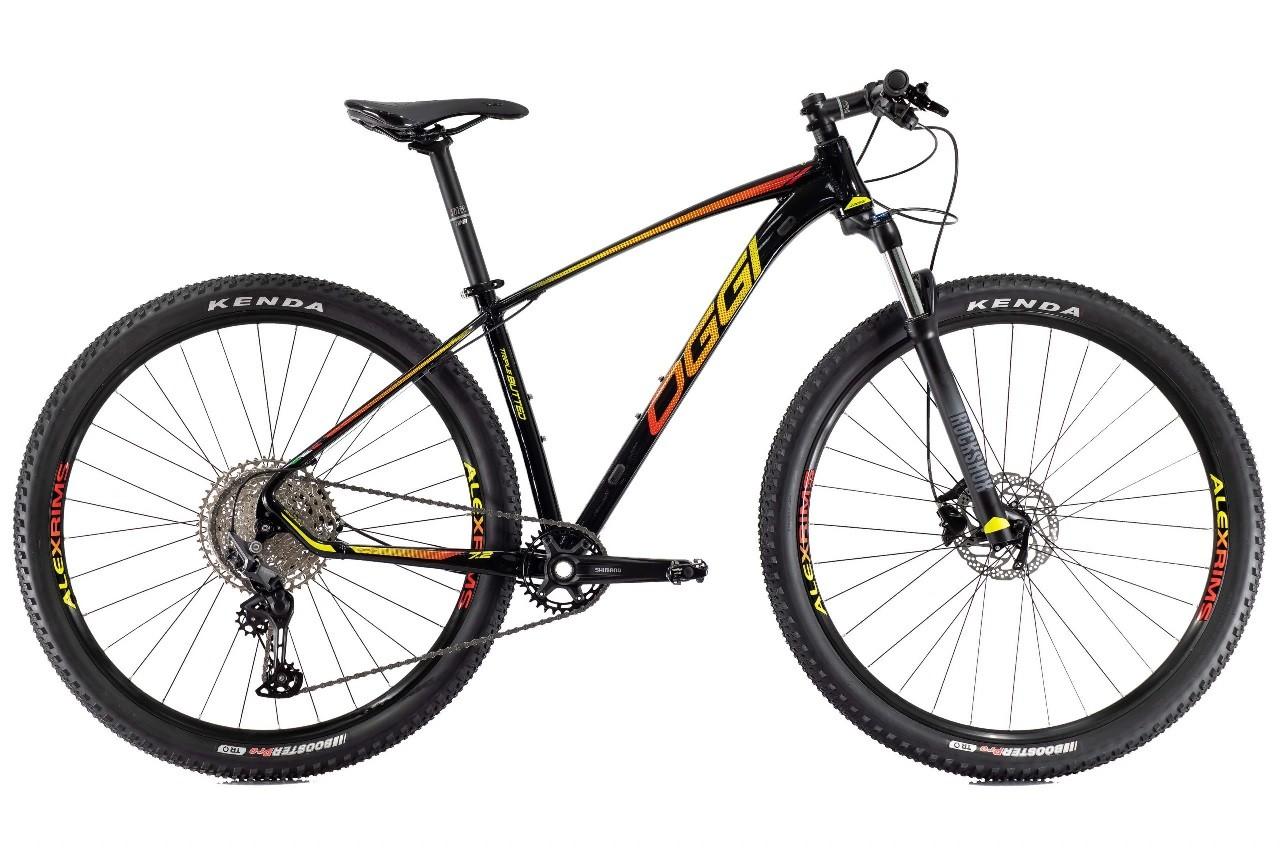 Bicicleta Oggi - Big Wheel 7.2 - 2021 - Preta / Amarela / Vermelha