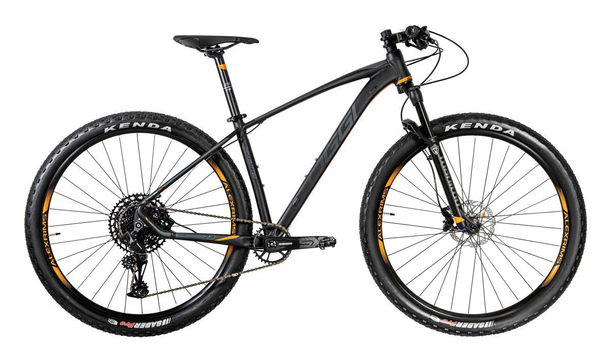 Bicicleta Oggi - Big Wheel 7.3 - 2020 - Preta / Grafite / Laranja