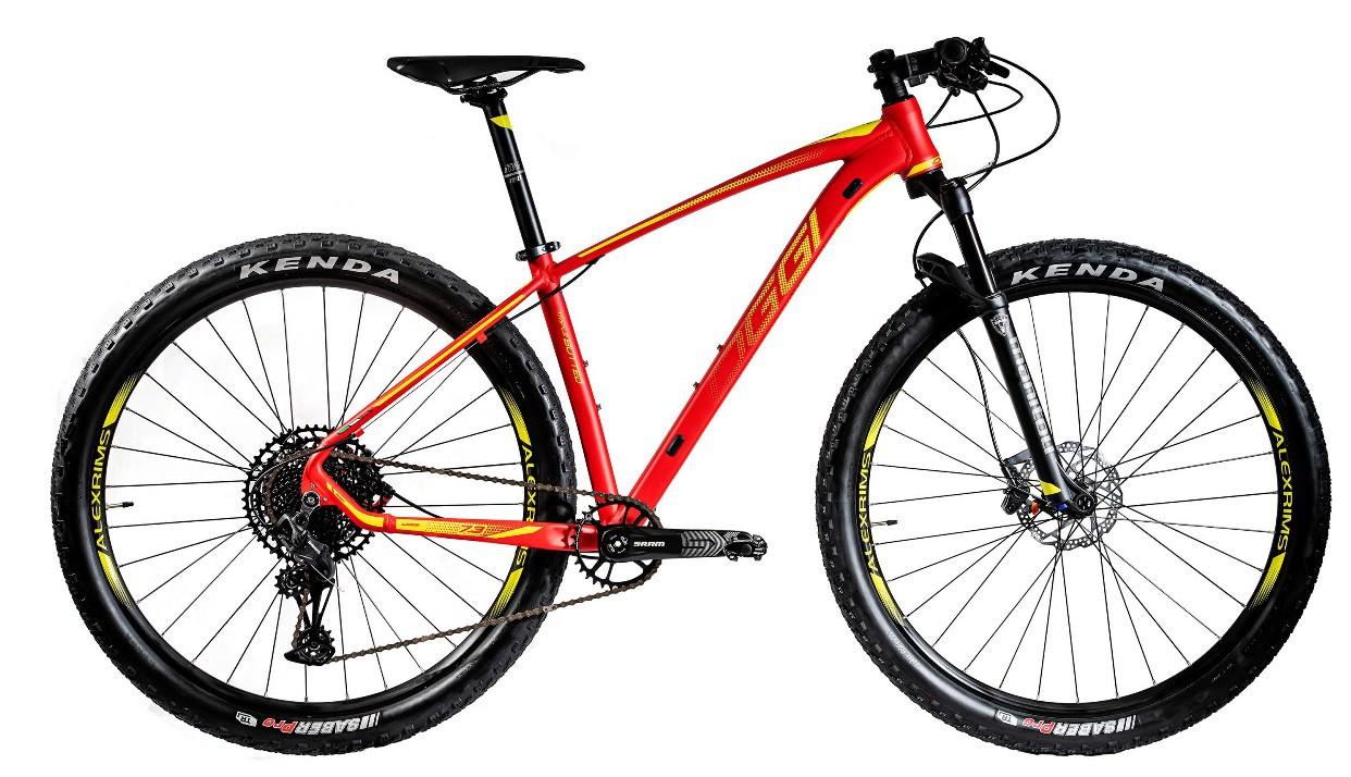 Bicicleta Oggi - Big Wheel 7.3 - 2020 - Vermelha / Amarela