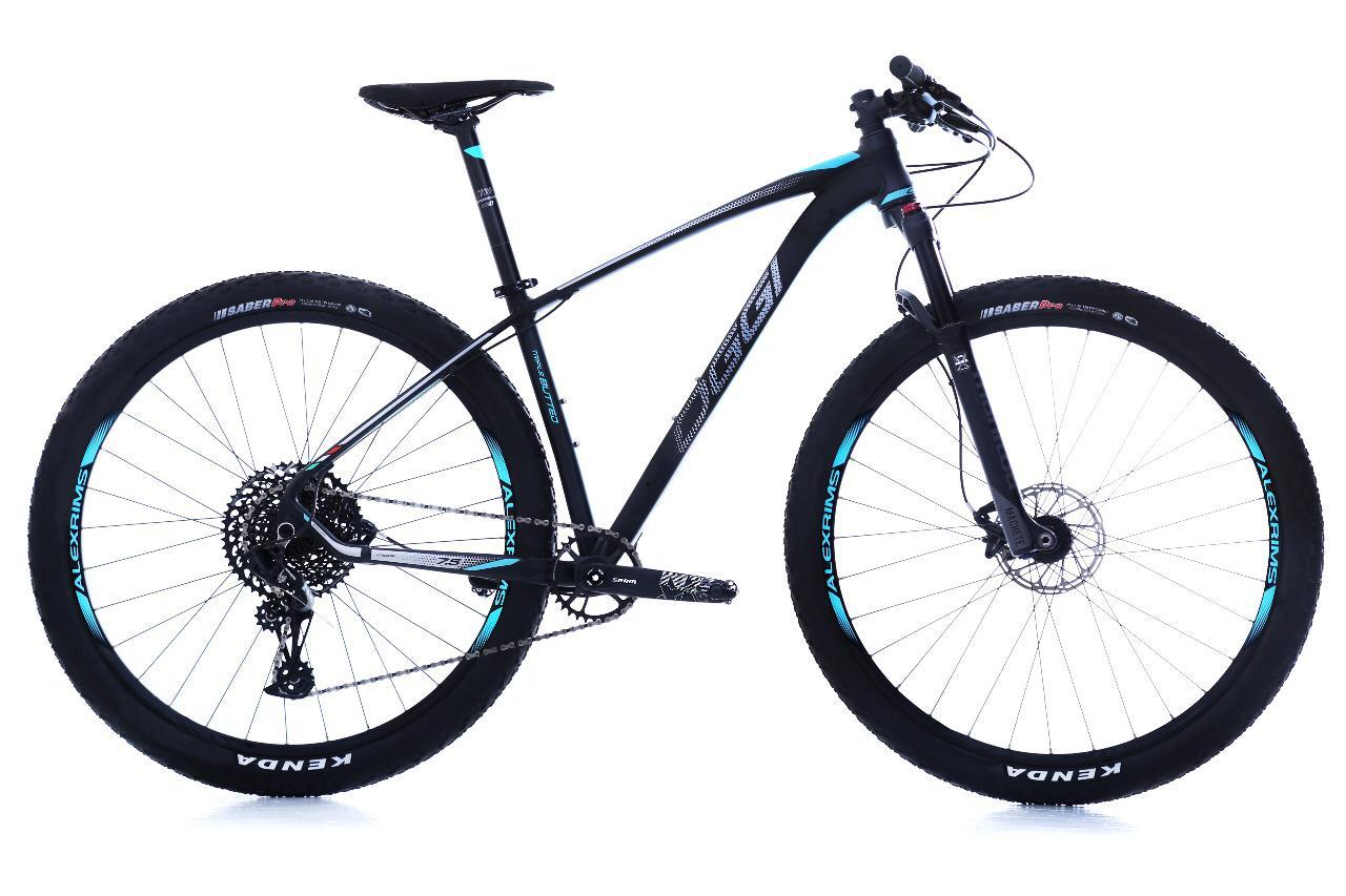 Bicicleta Oggi - Big Wheel 7.5 - 2019 Preto / Cinza / Azul + Brinde