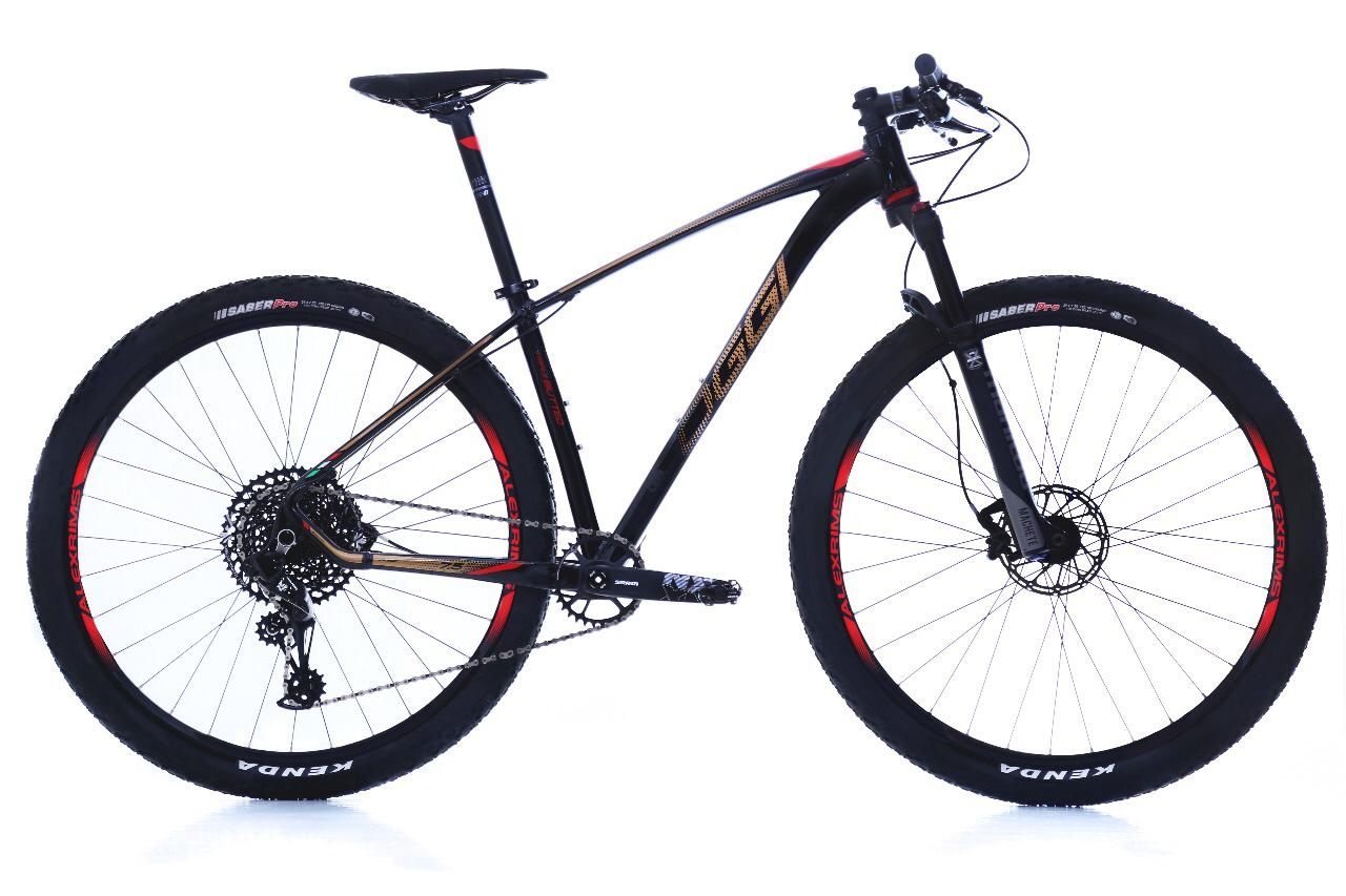 Bicicleta Oggi - Big Wheel 7.5 - 2019 Preto / Dourado / Vermelho