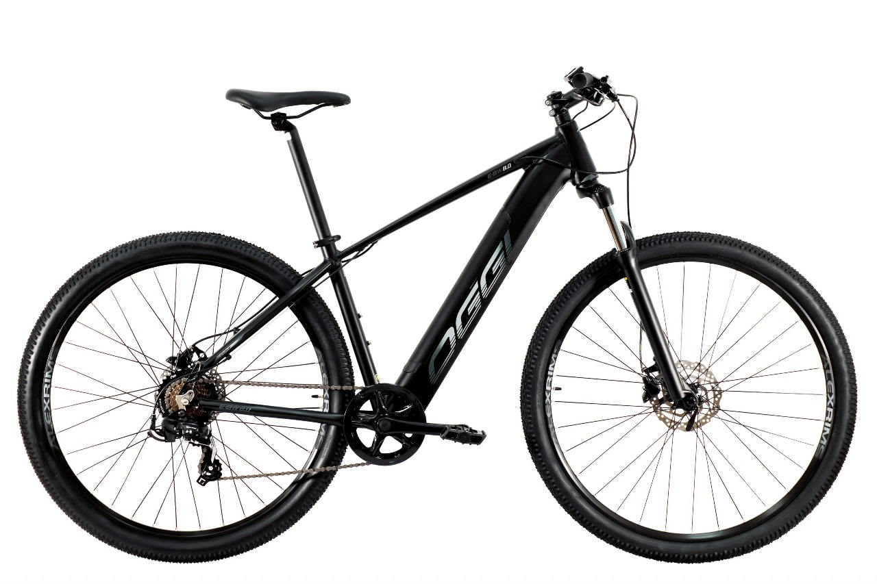 Bicicleta Oggi - E-Bike Big Wheel 8.0 - Preta / Grafite - 2021