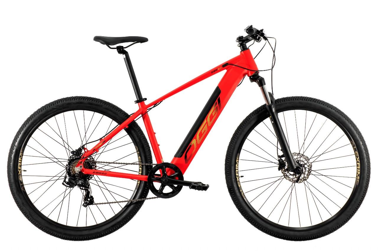 Bicicleta Oggi - E-Bike Big Wheel 8.0 - Vermelha / Dourado - 2021