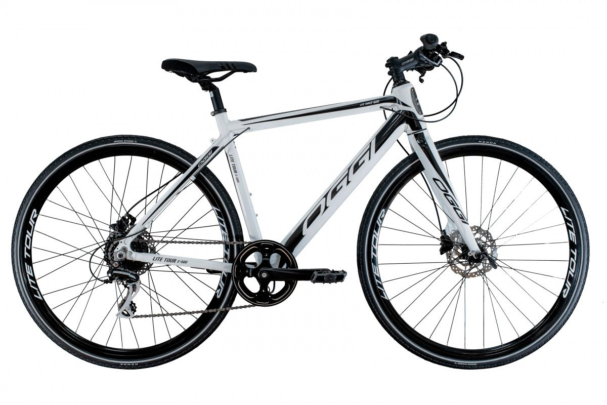 Bicicleta Oggi - E-Bike Lite Tour E-500 - 2020 - Branca / Preta