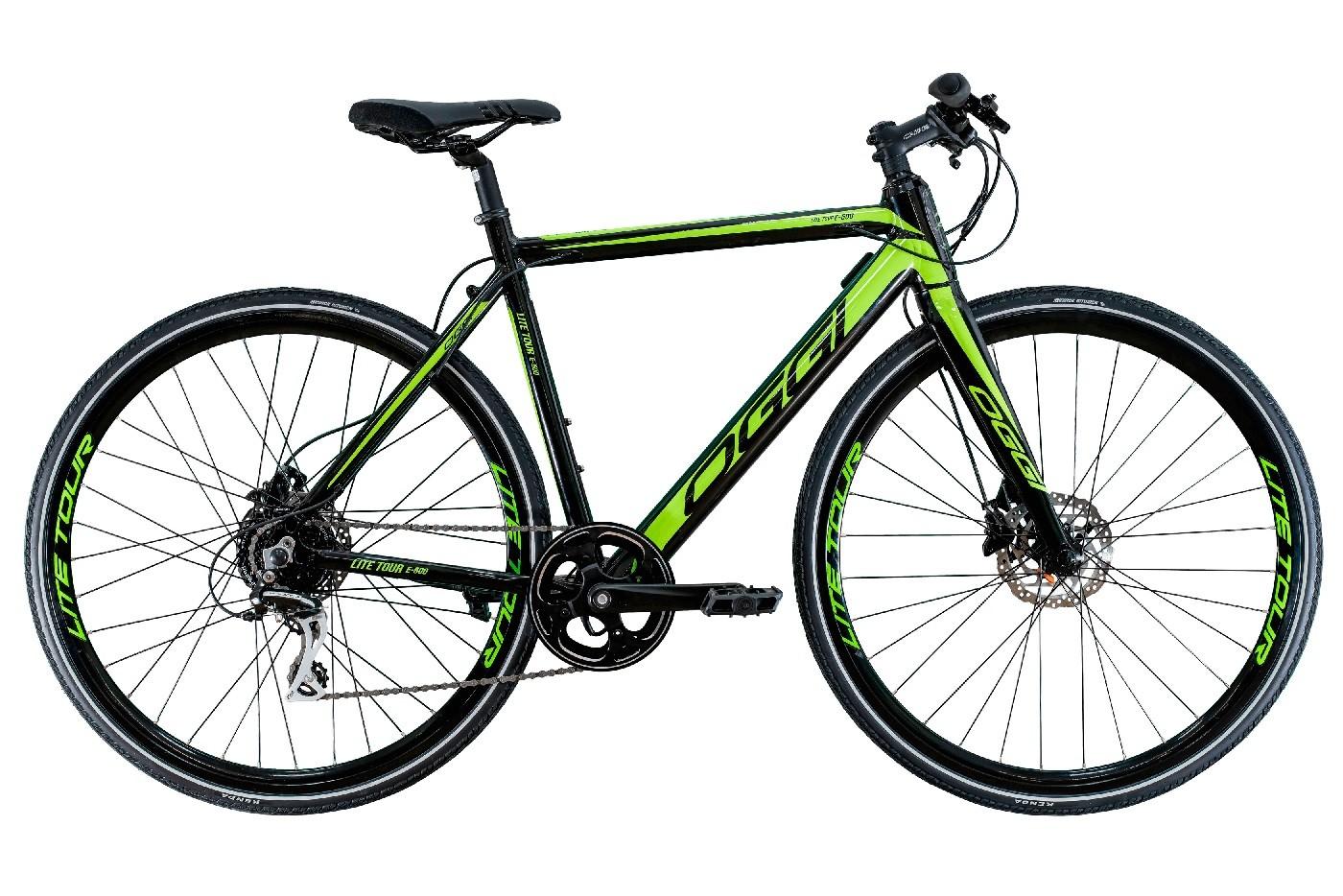 Bicicleta Oggi - E-Bike Lite Tour E-500 - 2020 - Preta / Verde