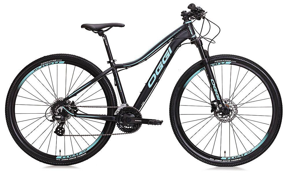 Bicicleta Oggi - Float 5.0 - Preta / Azul Tiffany + Brinde