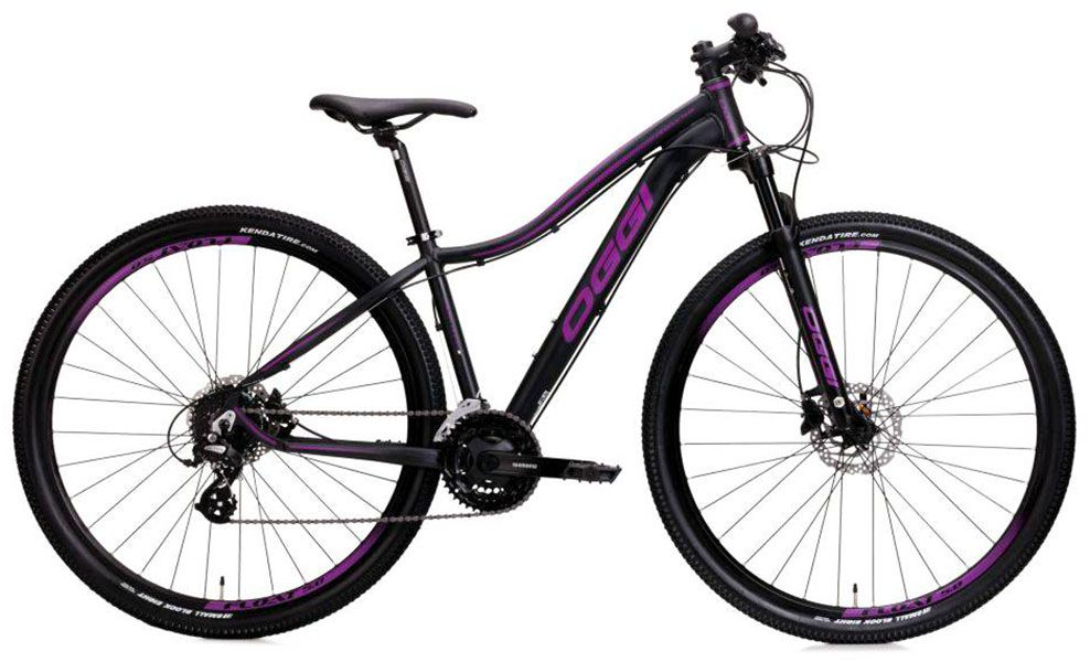 Bicicleta Oggi - Float 5.0 - Preta / Roxo - (Altus 27 v) + Brinde