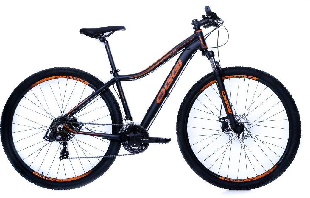 Bicicleta Oggi - Float Sport Feminina - Preta / Laranja + Brinde