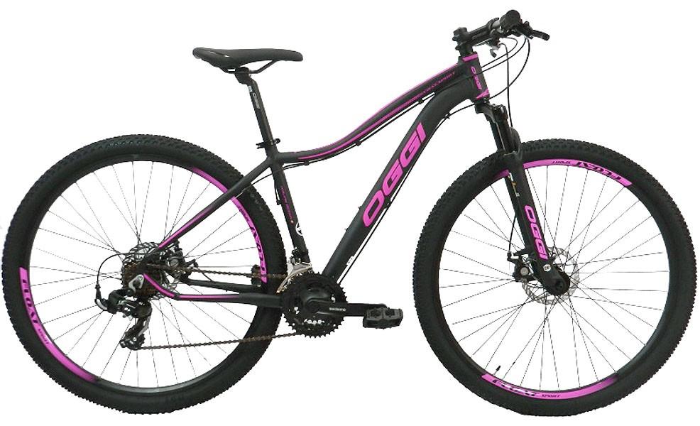 Bicicleta Oggi - Float Sport Feminina - Preta / Rosa + Brinde
