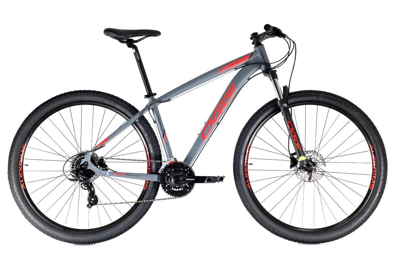 Bicicleta Oggi - Hacker HDS 24v - Grafite / Vermelho / Preto - 2021