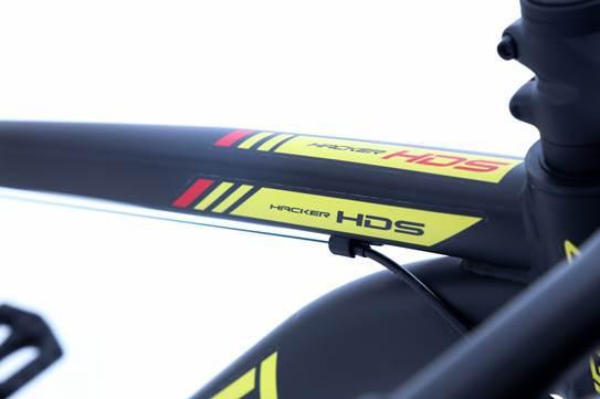 Bicicleta Oggi - Hacker HDS 24v - Preto / Amarelo / Vermelho