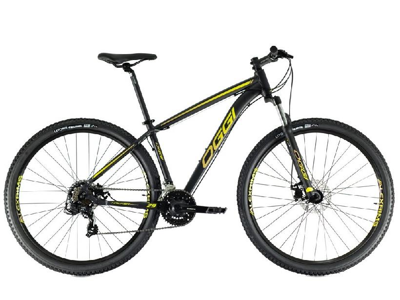 Bicicleta Oggi - Hacker Sport 29 - Preta / Amarela / Dourada - 2021