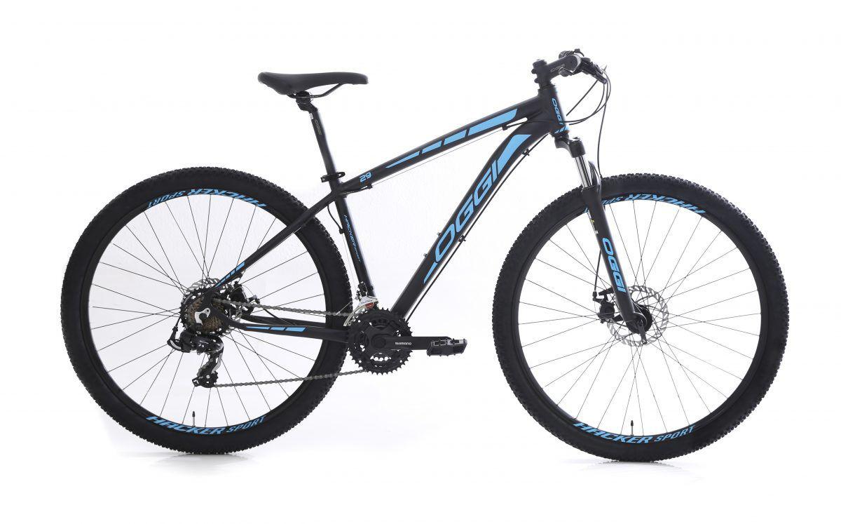 Bicicleta Oggi - Hacker Sport 29 - Preta / Azul