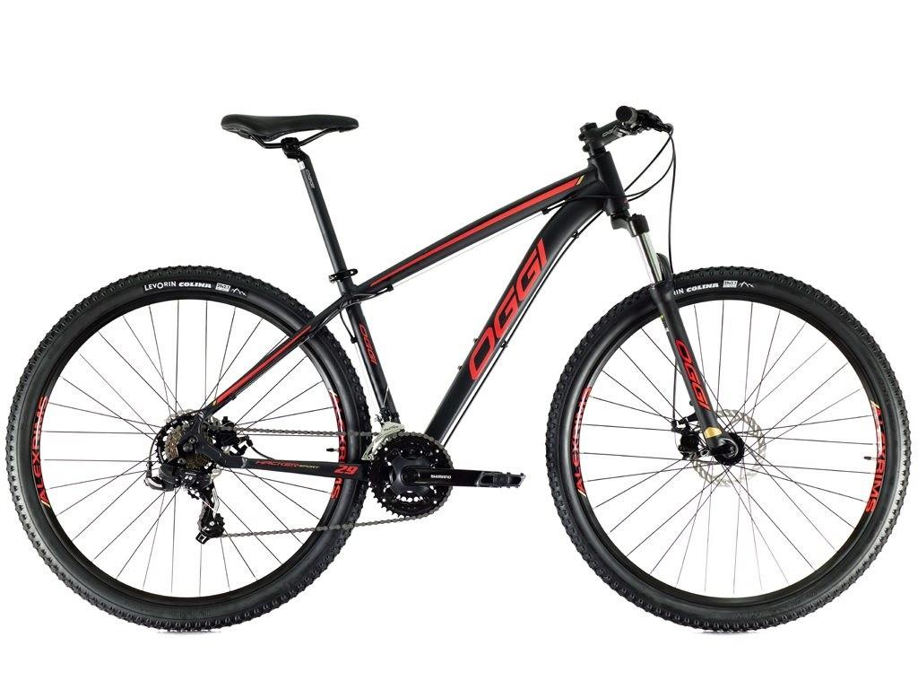 Bicicleta Oggi - Hacker Sport 29 - Preta / Vermelha / Dourada - 2021