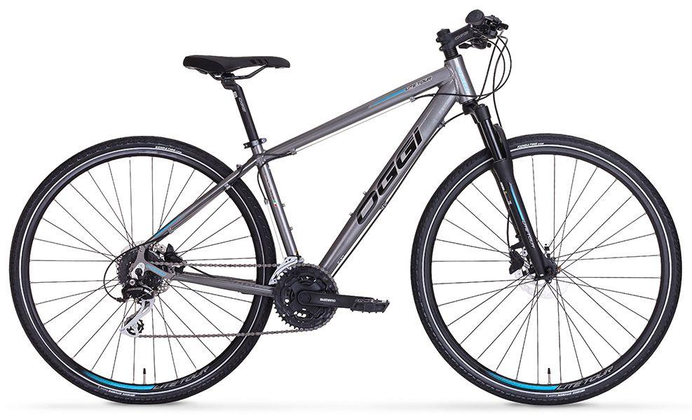 Bicicleta Oggi - Lite Tour 700 - Prata / Azul