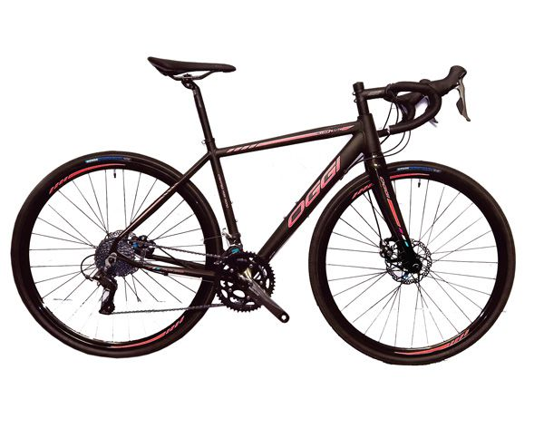 Bicicleta Oggi - Velloce Disc 700c - Preta / Vermelha + Brinde