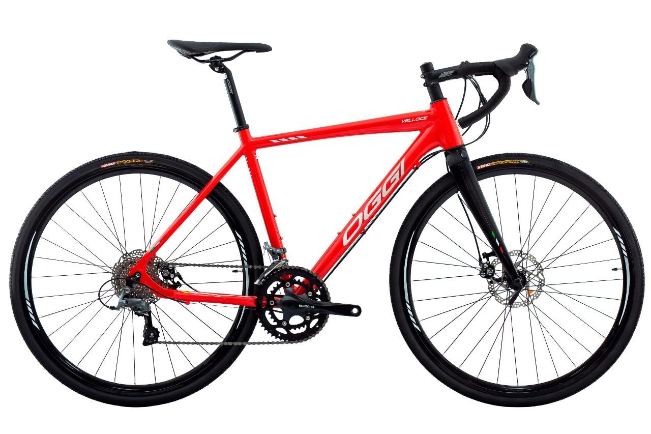 Bicicleta Oggi - Velloce Disc 700c - Vermelho / Grafite / Branco - 2022