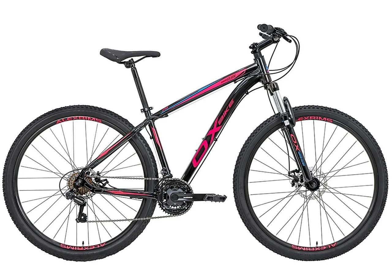 Bicicleta OX Glide - 29'' - Preto / Rosa / Azul
