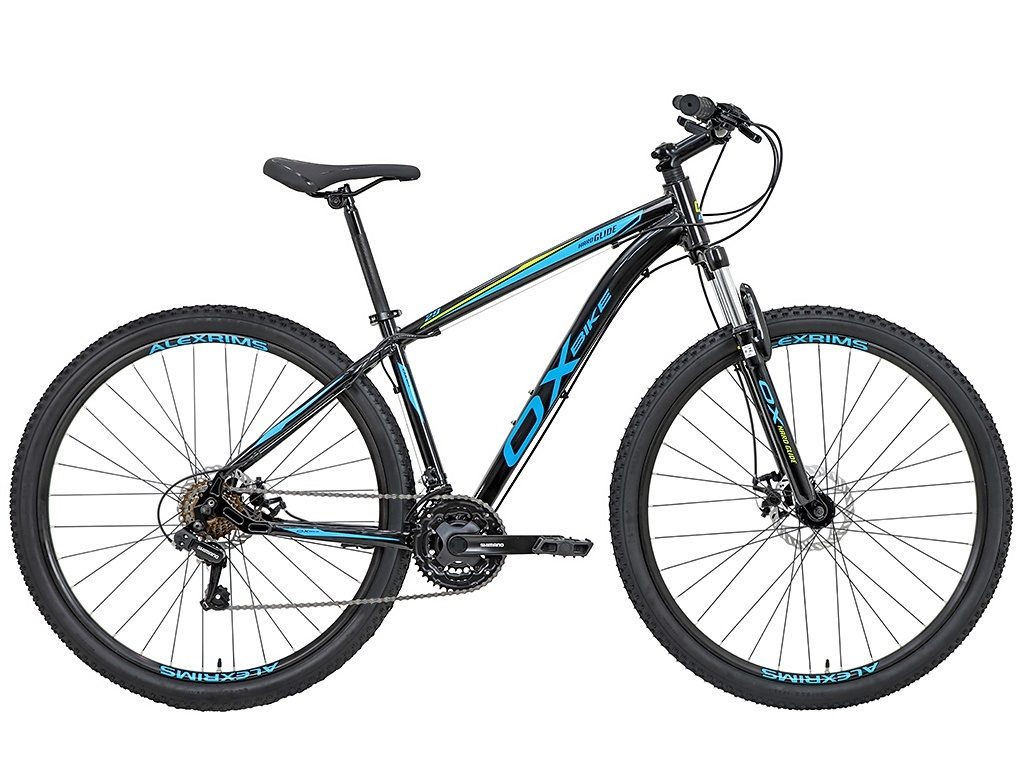 Bicicleta OX Glide - 29'' - Preto / Azul / Flou S-Lime
