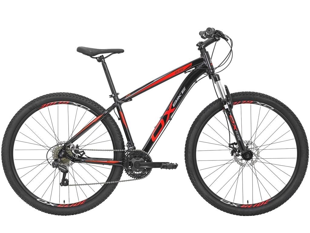 Bicicleta OX Glide - 29'' - Preto / Vermelho