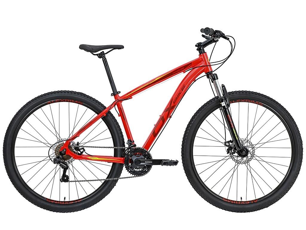 Bicicleta OX Glide - 29'' - Vermelha / Vinho / Fluo S-Lime