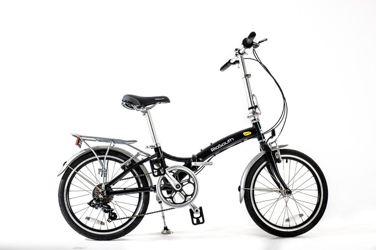 Bicicleta Rio South Wave - Dobrável - Preta
