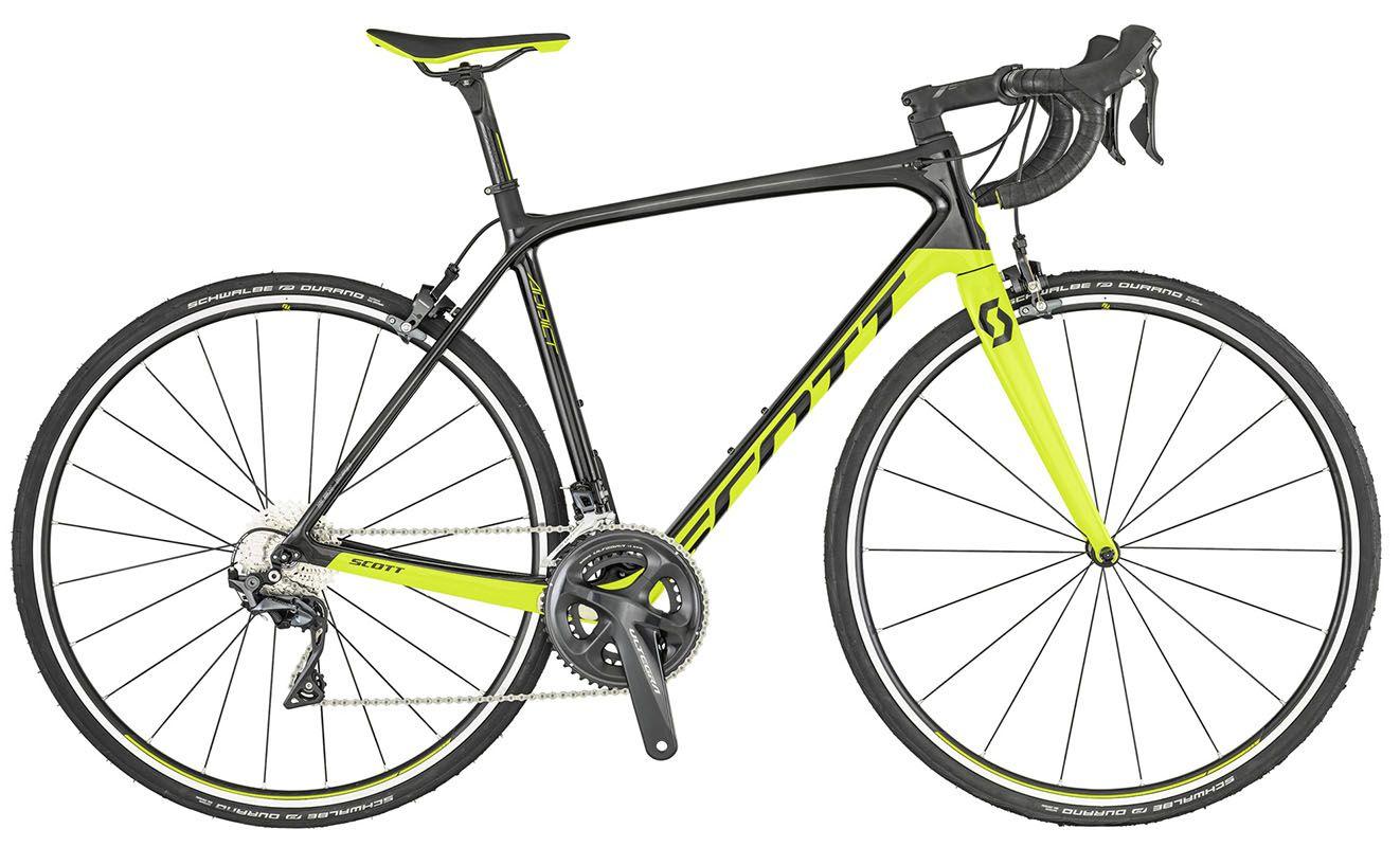 Bicicleta Scott - Addict 10 - Preta / Amarela