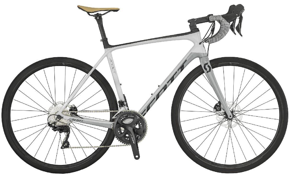 Bicicleta Scott - Addict 20 Disc - Branca / Cinza + Brinde